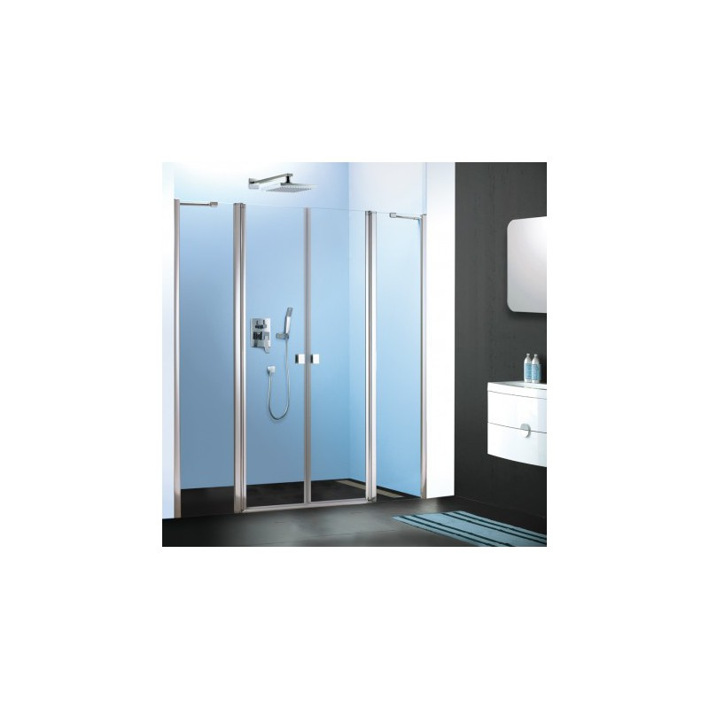Epona verre transparent porte saloon for Porte douche saloon